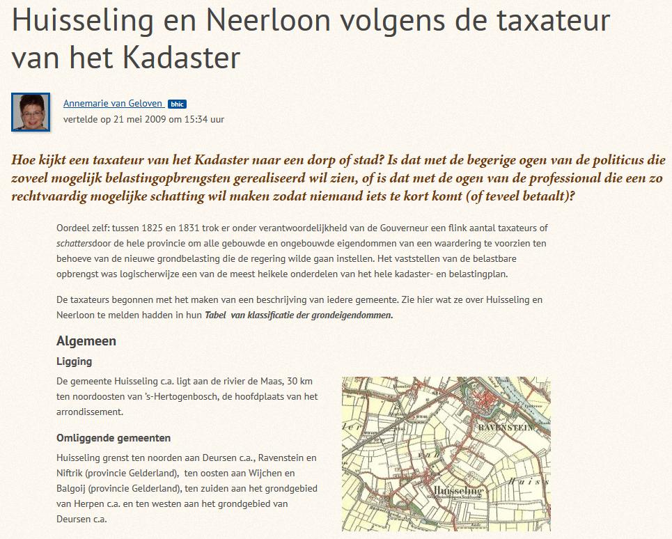 Huisseling.nl; Huisseling in geschreven bronnen